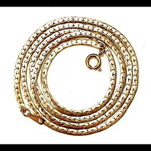 Vintage gold chain necklace